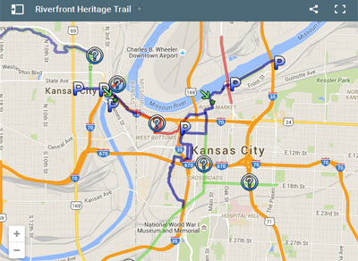 Click here to view an Interactive Map of the KC Riverfront Heritage Trail