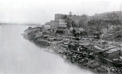 Missouri Riverfront in 1869